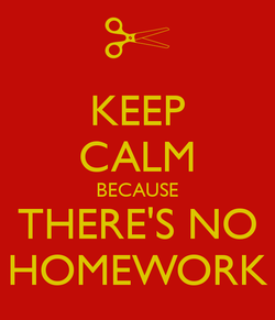 Image result for pictures of the word no homework